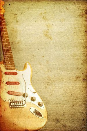 Beautiful guitar on old nostalgic background used look