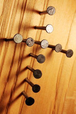 Photo pour The Nails of the Cross Christian Symbol - image libre de droit