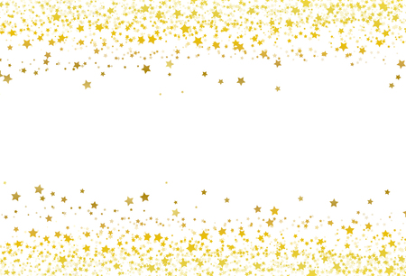 Illustration for Stars scatter glitter confetti gold frame banner galaxy celebration party premuim product concept abstract background texture vector illustration - Royalty Free Image
