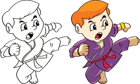 martial art cartoon