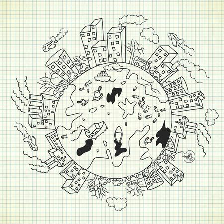 pollution doodle