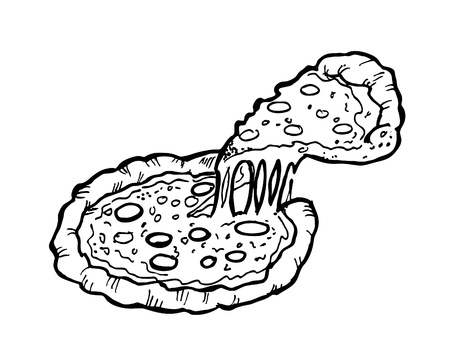 pizza doodle: Royalty-free vector graphics