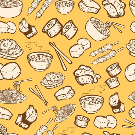 food seamless patternのイラスト素材