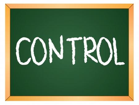 control word written on chalk board