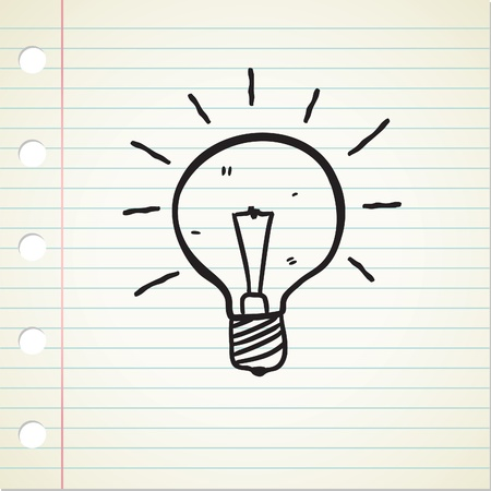 bulb doodle: Royalty-free vector graphics