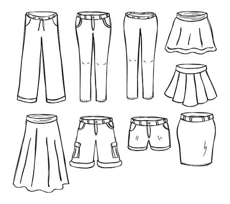 set of pant and skirt