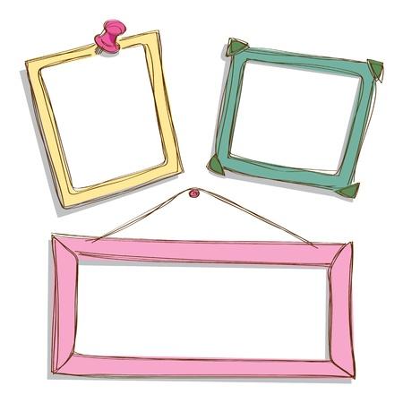 set of cute frame doodle