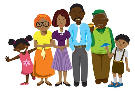 African family cartoonのイラスト素材