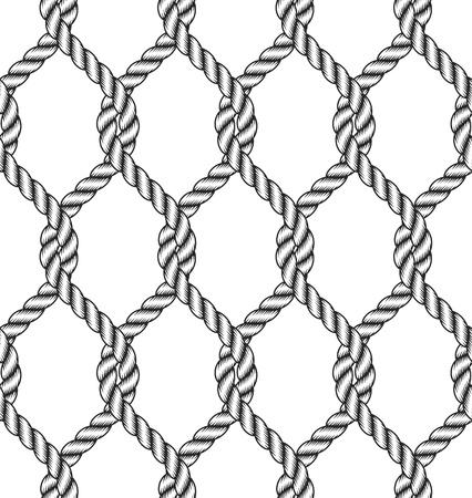 seamless rope knot pattern