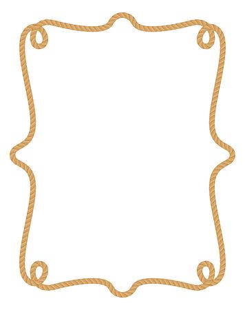 Illustration pour Rope frame. - image libre de droit