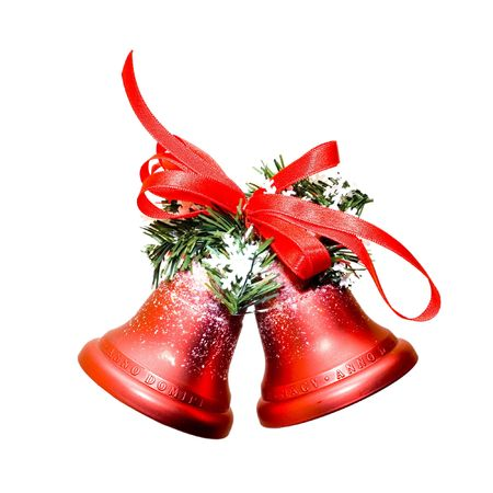 Foto de Christmas bells isolated on white background - Imagen libre de derechos