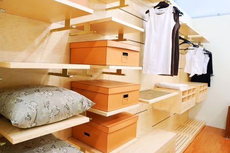 Foto de Closet wardrobe private room interior - Imagen libre de derechos