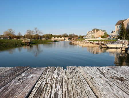 Photo pour Marina on Lake Huron at Port Austin, MI, USA - image libre de droit
