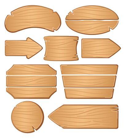 Illustration pour Wooden boards for banners or messages. - image libre de droit