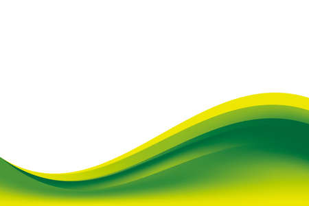 Illustration for Abstract Smooth Green Yellow Wavy Background Design Template Vector, Professional Fresh Green Mesh Gradient Element with Copy Space for Text - Royalty Free Image