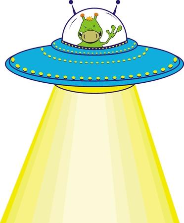 Illustration pour cartoon alien in vector format - image libre de droit