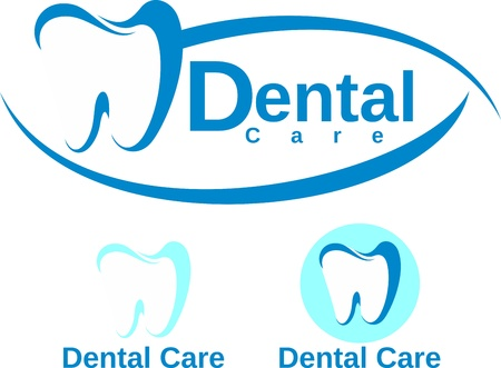 set of dental logotypeのイラスト素材