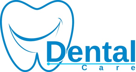 Ilustración de molar with smile dental logo - Imagen libre de derechos