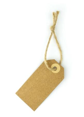 Natural paper label - vertical -
