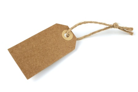 Natural paper blank label