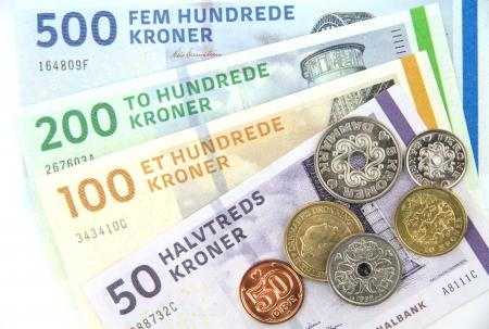 Danish kroner   DKK  , coins and banknotes