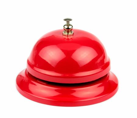 Foto für Red service bell on white background   - Lizenzfreies Bild