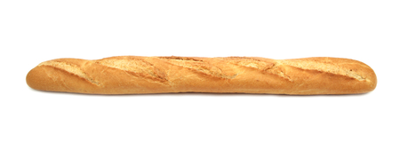 Baguette isolated on white background