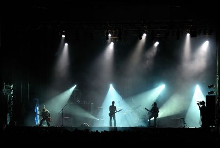 live band performing at a concert - no visible human faces
