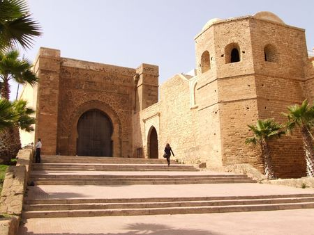 View on the gate of the Kasba des Ouida in Rabat, Morocco