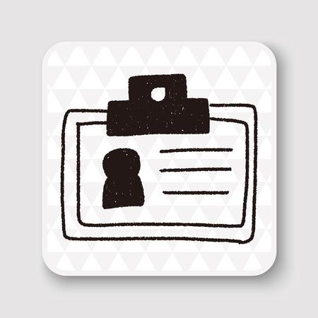 Illustration pour doodle id card - image libre de droit