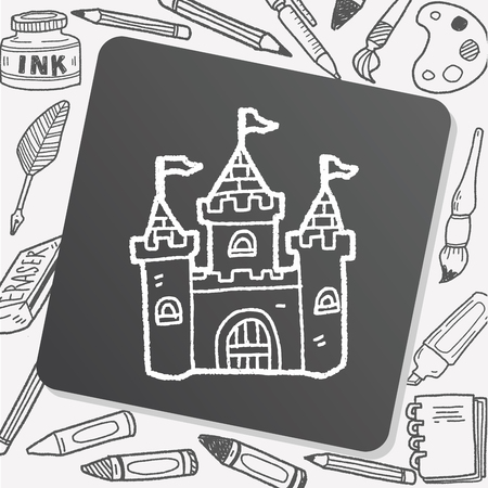 castle doodle: Royalty-free vector graphics