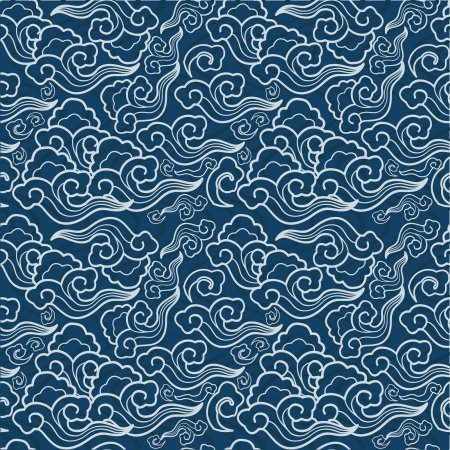 traditional Japanese seamless patterns with geometric and nature themes