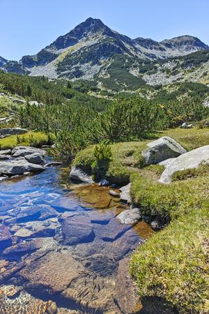 Amazing landscape with Valyavitsa river and Valyavishki chukar peak, Pirin Mountain, Bulgaria