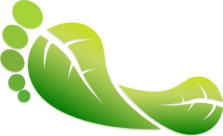 A Colourful Green Footprint Illustration