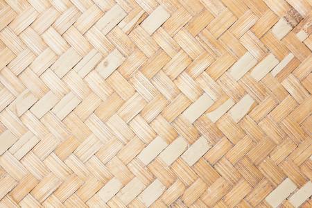 close up woven bamboo pattern.