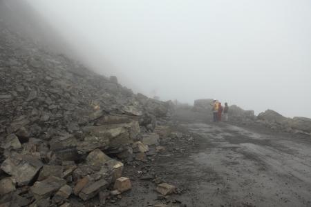Rock Fall Yungas Road
