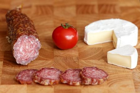 German specialty old sausage salami