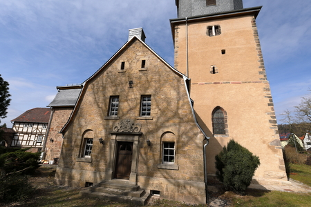 The village church of Herleshausen in northern Hesse Germany