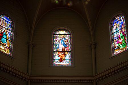 Foto de Painted windows of a church - Imagen libre de derechos