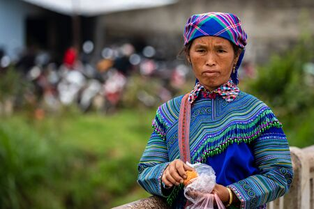 People at the Bac Ha Market in Vietnam