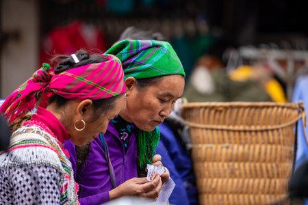 People at the Bac Ha Market in Vietnam, November 10, 2019