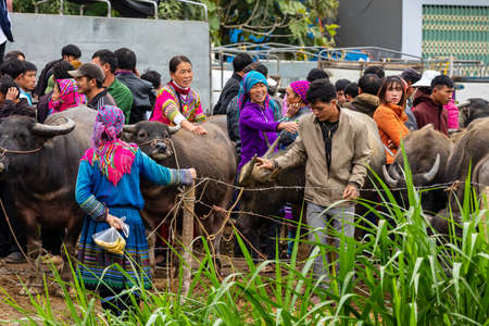 Local People of the Bac Ha Market in Vietnam, November 10, 2019