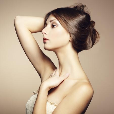 Photo pour Photo of beautiful young woman. Vintage style. Fashion photo - image libre de droit