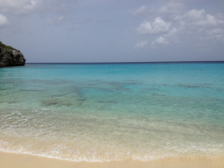 Caribbean beach named Klein Knip in Curacao