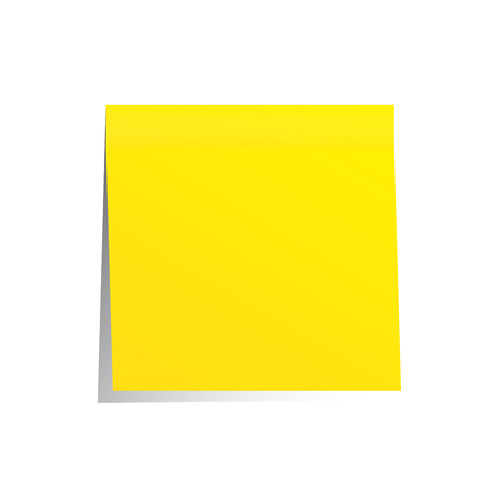 yellow post it note isolated on white