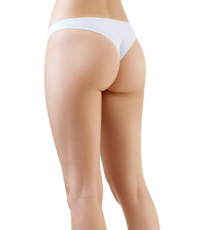 Photo for Perfect female legs and buttocks from side view. - Royalty Free Image