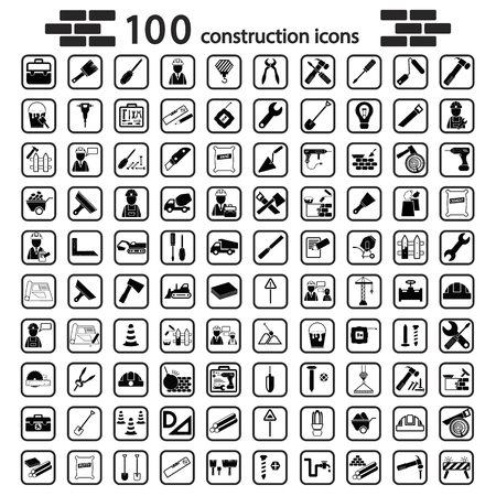 Illustration pour construction set icon - image libre de droit