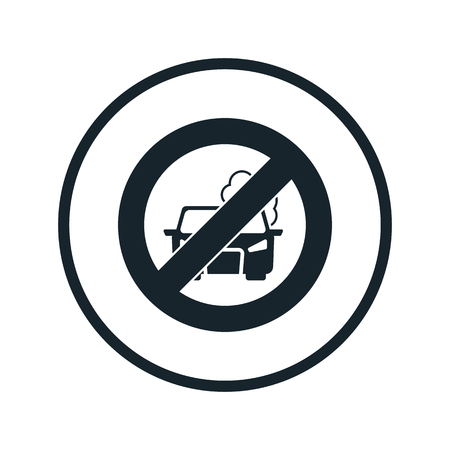 prohibitio pollute the air icon