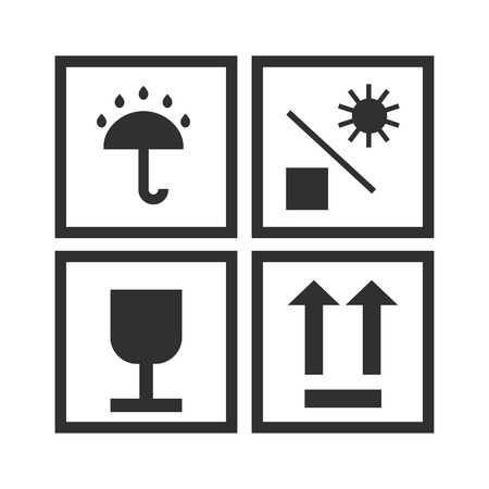Cargo requirements flat icon