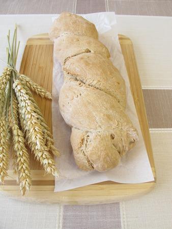 Freshly baked root bread